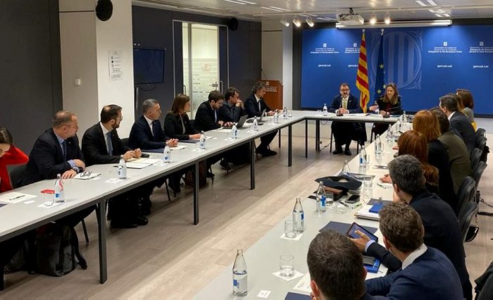 The meeting of the representatives of the Government of Catalonia abroad is taking place in Brussels