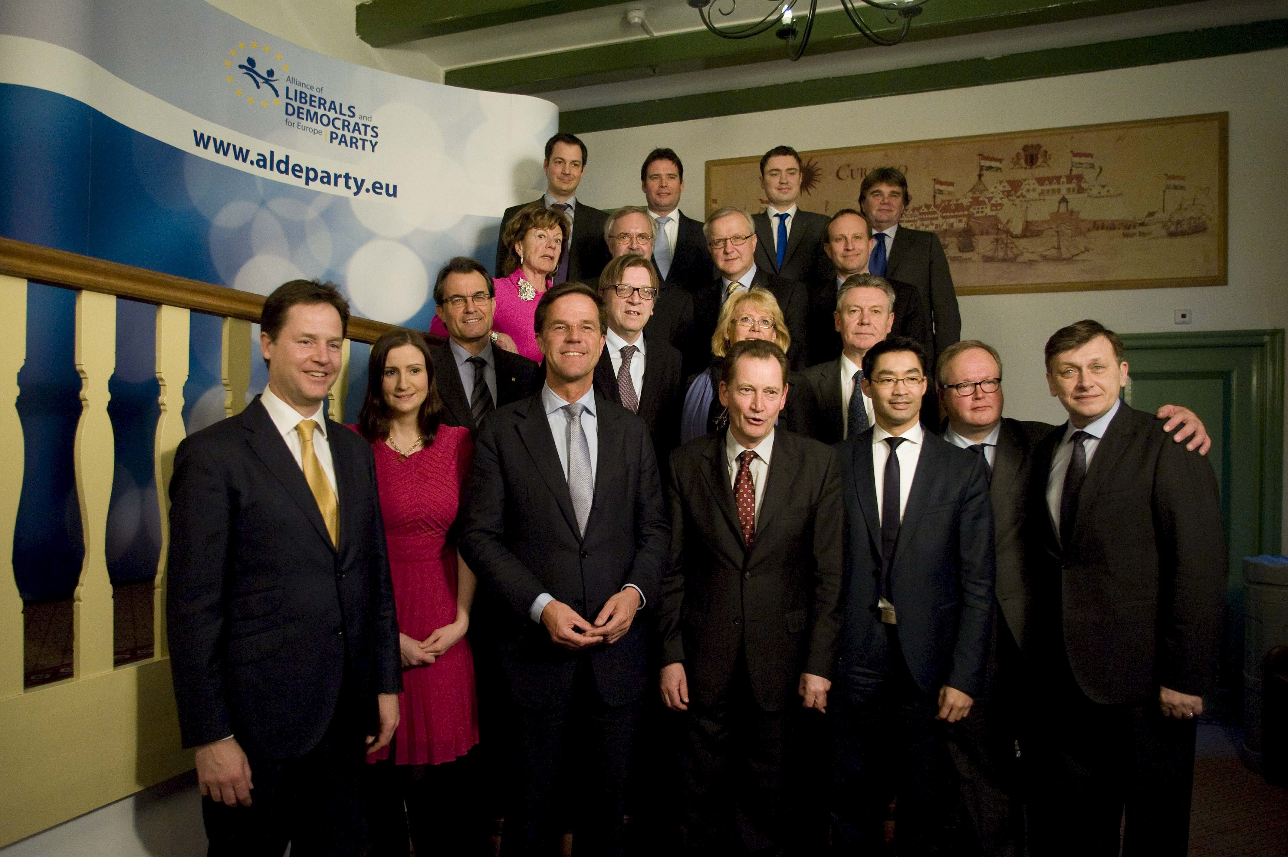 Meeting of European Liberal Democrats in Amsterdam last February