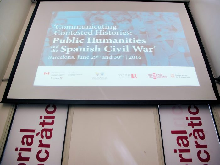 'Communicating Contested Histories: Public Humanities and the Spanish Civil War' (29/06/2016)