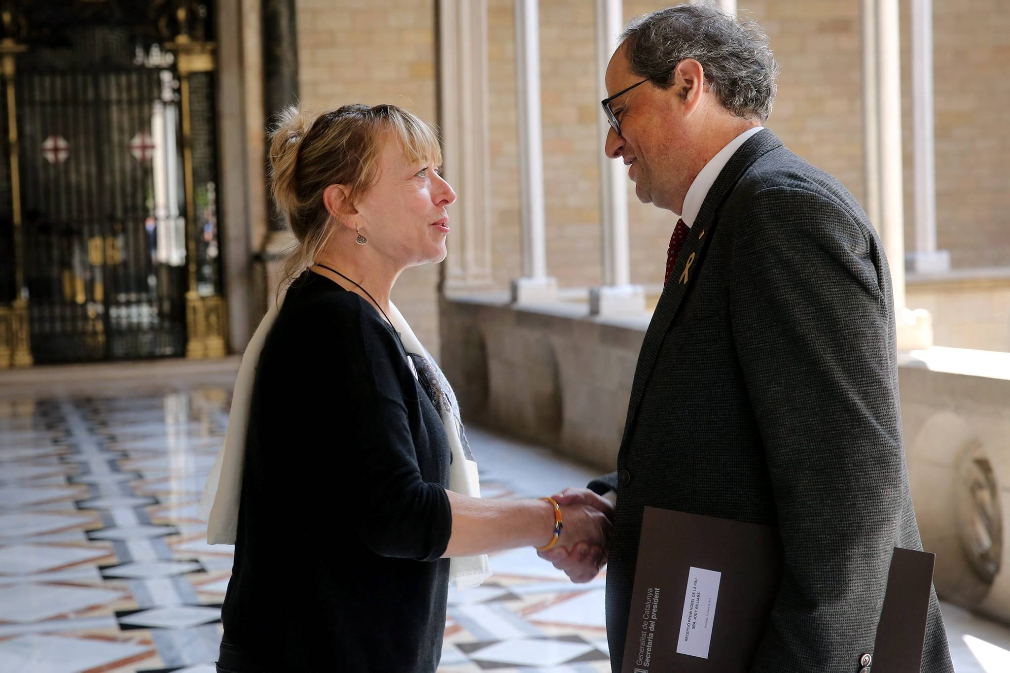 President Torra with Jody Williams