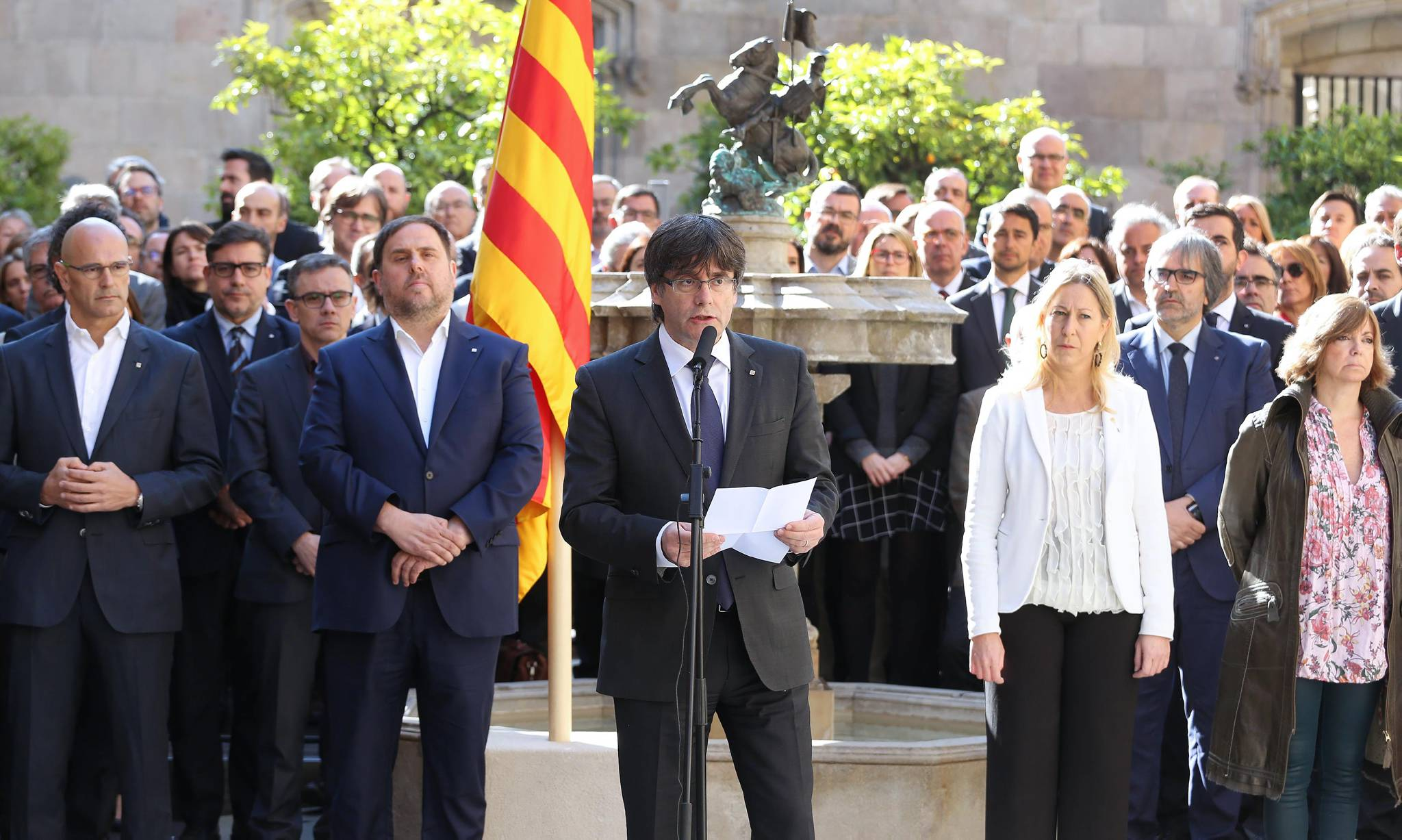 President Puigdemont during his intervention