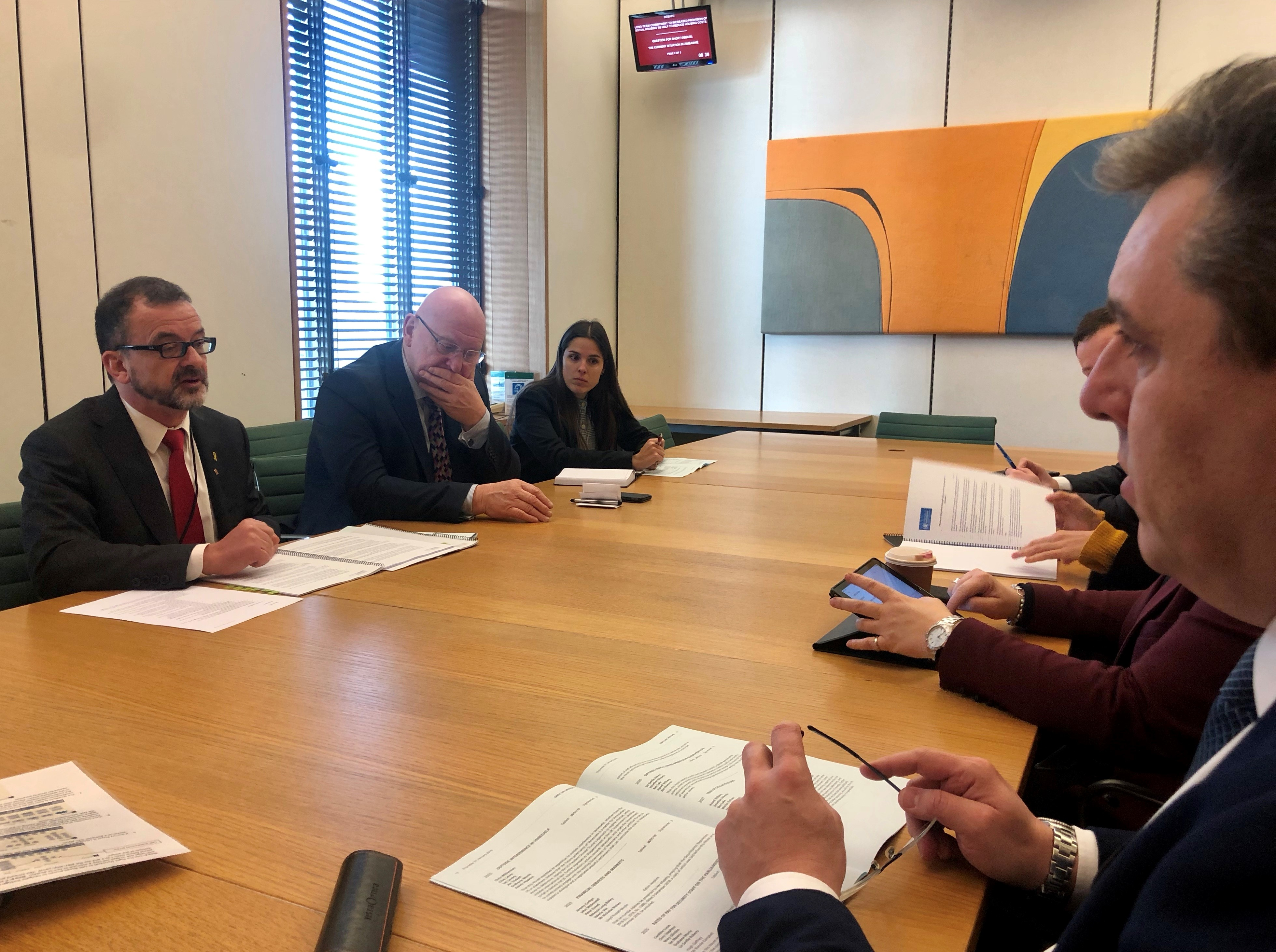 Minister Alfred Bosch met with members of the APPG in London