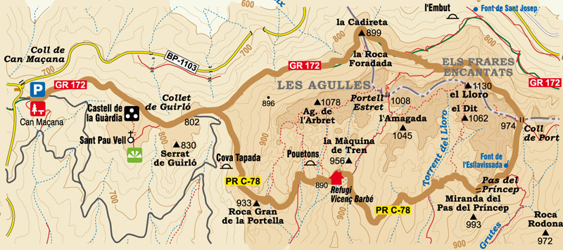 Circular Route Through The Region Of Les Agulles And Els Frares
