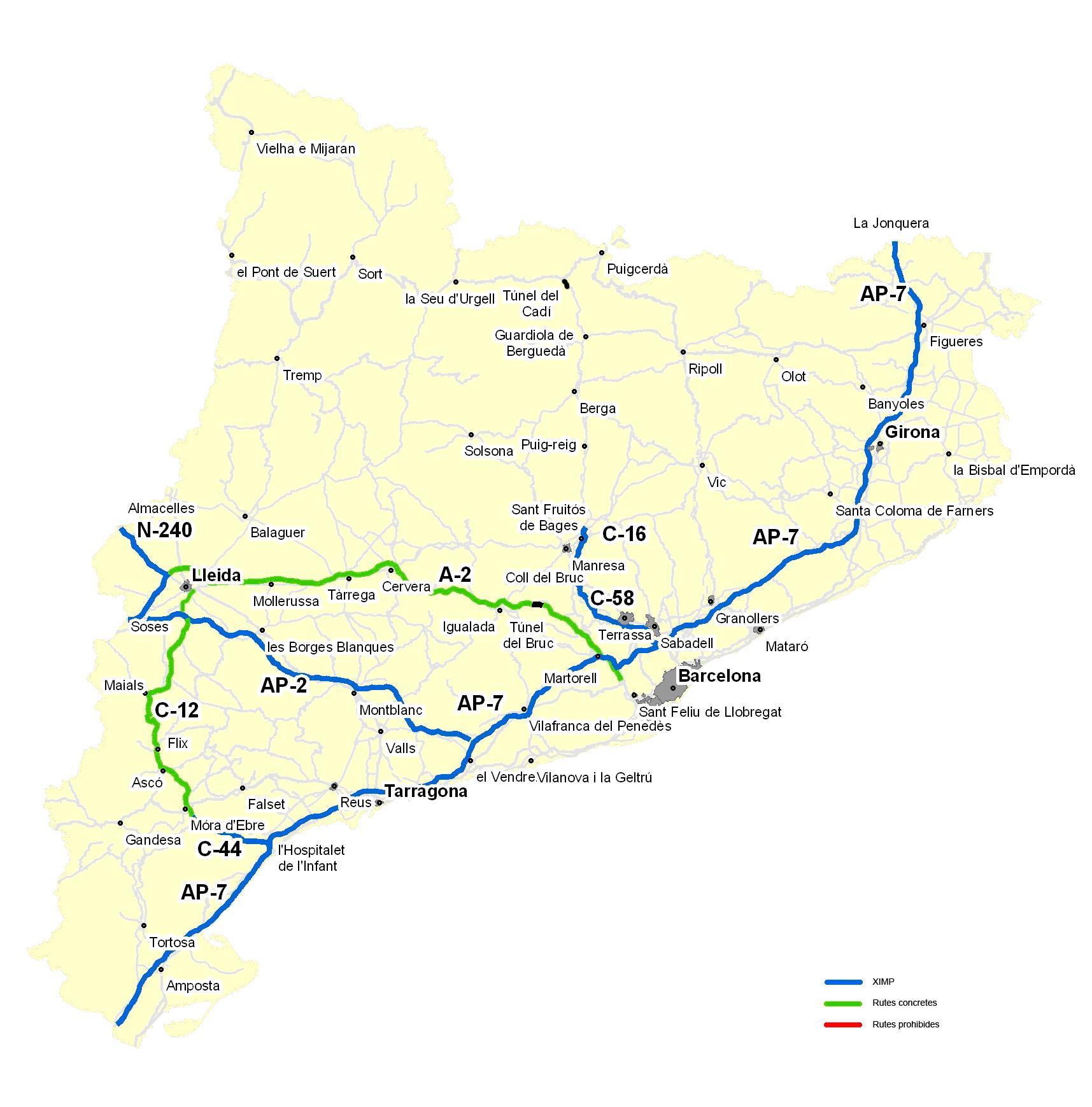 Restricciones circulación Cataluña 2013